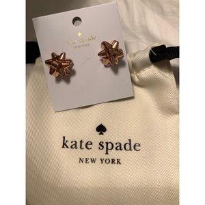 NWT Kate spade bow earrings